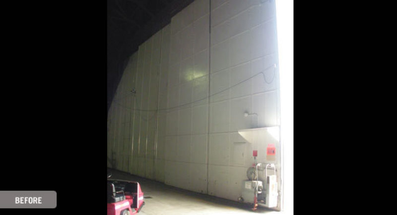 Refurbishment bottom rolling hangar door 4