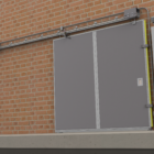 Single Slide Fire Door with Operator